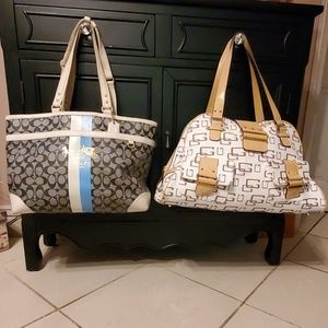 Guess Tote And Coach Baby Bag